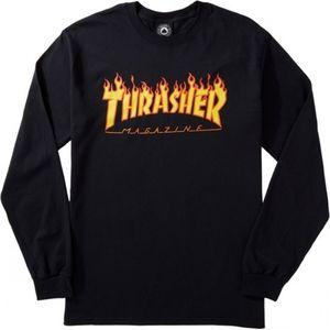 Black Thrasher Long Sleeve T Shirt Sz Small